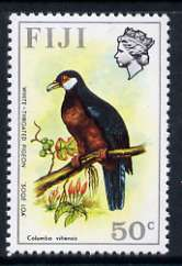 Fiji 1975-77 Birds & Flowers 50c (White-throated Pigeon) unmounted mint SG 518*