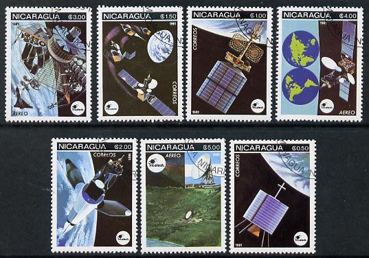 Nicaragua 1981 Satellites complete perf set of 7 cto used SG 2311-17*
