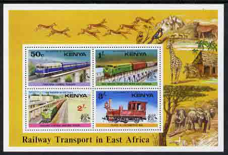 Kenya 1976 Railways perf m/sheet unmounted mint, SG MS 70