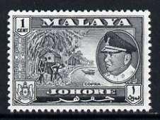 Malaya - Johore 1960 Copra 1c (from def set) unmounted mint, SG 155