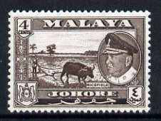 Malaya - Johore 1960 Ricefield 4c (from def set) unmounted mint, SG 157
