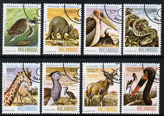 Mozambique 1981 Protected Animals cto set of 8 complete SG 856-63*, stamps on animals