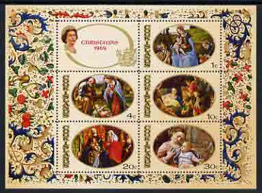 Cook Islands 1969 Christmas perf m/sheet (Religious Painting) unmounted mint, SG MS 315