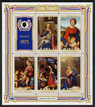Cook Islands 1975 Christmas (Religious Paintings) perf m/sheet unmounted mint, SG MS 534