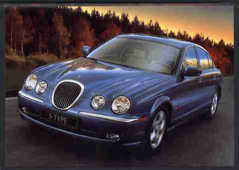 Postcard - Great Britain 1998 Publicity postcard showing Jaguar S type from the British International Motorshow, unused and pristine