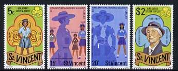 St Vincent 1977 Girl Guides set of 4 unmounted mint, SG 538-36*