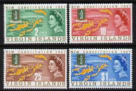 British Virgin Islands 1967 New Constitution perf set of 4 unmounted mint, SG 213-16