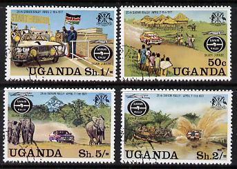 Uganda 1977 Safari Rally complete cto set of 4, SG 188-91*