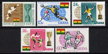 Ghana 1966 Football World Cup Championships perf set of 5 unmounted mint, SG 429-33*
