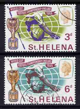 St Helena 1966 Football World Cup perf set of 2 very fine cds used, SG 205-6*
