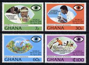 Ghana 1976 Prevention of Blindness perf set of 4 unmounted mint, SG 782-85*
