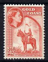 Gold Coast 1952-54 Mounted Constabulary 2.5d unmounted mint from def set, SG 157*