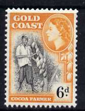 Gold Coast 1952-54 Cocoa Farmer 6d unmounted mint from def set, SG 160