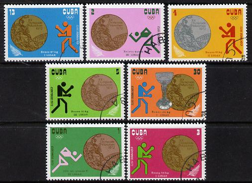 Cuba 1972 Cuban Successes in Olympic Games complete cto set of 7 SG 1996-2002*
