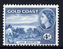 Gold Coast 1952-54 Lake Bosumtwi 4d unmounted mint from def set, SG 159