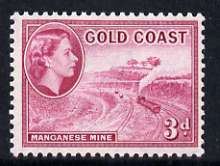 Gold Coast 1952-54 Manganese Mine 3d unmounted mint from def set, SG 158