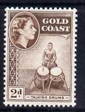 Gold Coast 1952-54 Talking Drums 2d unmounted mint from def set, SG 156