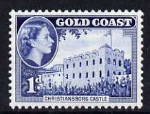 Gold Coast 1952-54 Christiansborg Castle 1d unmounted mint from def set, SG 154