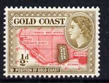 Gold Coast 1952-54 Map of West Africa 1/2d (bistre-brown) unmounted mint from def set, SG 153a