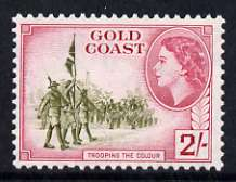 Gold Coast 1952-54 Trooping the Colour 2s unmounted mint from def set, SG 162
