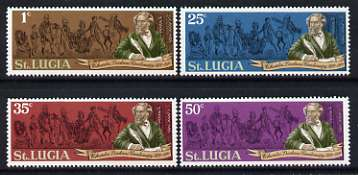 St Lucia 1970 Death Centenary of Charles Dickens perf set of 4 unmounted mint, SG 293-96*