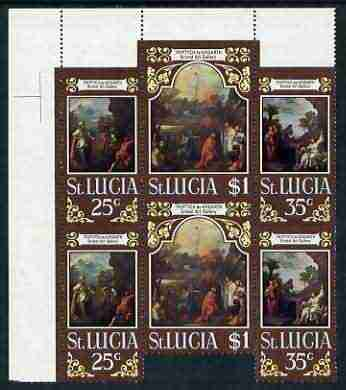 St Lucia 1970 Easter - perf Triptych by Hogarth unmounted mint, SG 290a