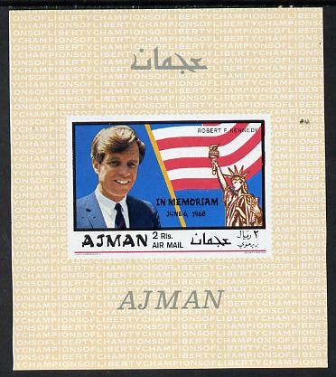 Ajman 1968 Robert Kennedy imperf m/sheet