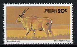 South West Africa 1980-89 Eland 20c (chalky paper) from Wildlife Def set unmounted mint, SG 360a
