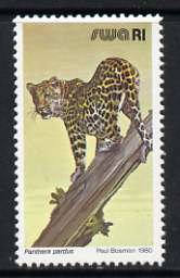 South West Africa 1980-89 Leopard 1r (chalky paper) from Wildlife Def set unmounted mint, SG 364a