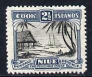 Niue 1944-46 Islanders Working Cargo 2.5d (multiple wmk) unmounted mint, SG 92*