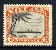 Niue 1944-46 HMS Monowai 6d (multiple wmk) unmounted mint, SG 94