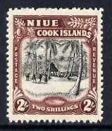 Niue 1944-46 HMS Island Village 2s (multiple wmk) unmounted mint, SG 96