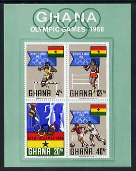Ghana 1969 Mexico Olympic Games imperf m/sheet unmounted mint, SG MS 525