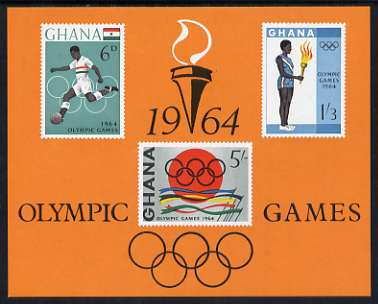 Ghana 1964 Tokyo Olympic Games imperf m/sheet unmounted mint, SG MS 353a