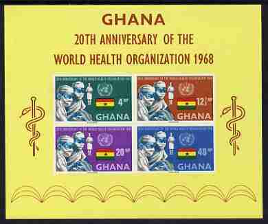 Ghana 1968 World Health Organisation imperf m/sheet unmounted mint, SG MS 520