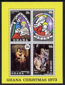 Ghana 1973 Christmas imperf m/sheet unmounted mint, SG MS 699