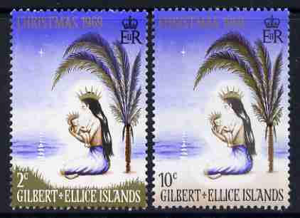 Gilbert & Ellice Islands 1969 Christmas perf set of 2 unmounted mint, SG 157-58*