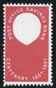 Great Britain 1961 Post Office Savings Bank 2.5d with black (Queen's Head) omitted, a  'Maryland' perf 'unused' forgery, as SG 623a - the word Forgery is either handstamped or printed on the back and comes on a presentation card with descriptive notes