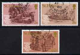 St Helena 1980 Empress Eugenie's Visit set of 3 fine cto used, SG 358-60
