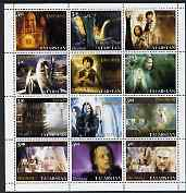 Tatarstan Republic 2003 Lord of the Rings perf sheetlet containing complete set of 12 values, unmounted mint