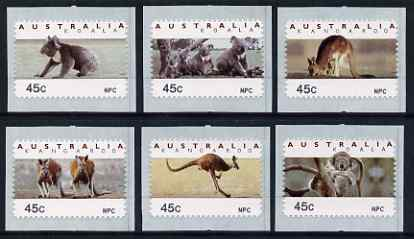 Australia 1994 Australian Wildlife (2nd Series) self adhesive set of 6 unmounted mint (inscribed NPC), similar to SG 1459-64