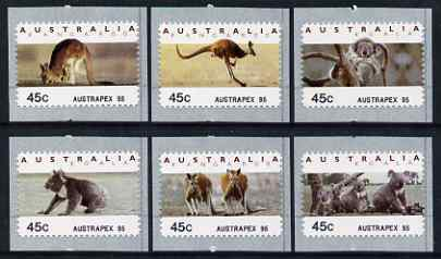 Australia 1994 Australian Wildlife (2nd Series) self adhesive set of 6 unmounted mint (inscribed Austrapex 95), similar to SG 1459-64