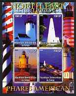 Congo 2004 Lighthouses of America (North East) perf sheetlet containing 4 values unmounted mint