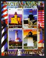 Congo 2004 Lighthouses of America (Pacific Coast) perf sheetlet containing 4 values unmounted mint