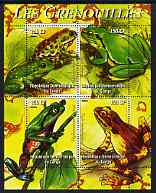 Congo 2004 Frogs (Les Grenouilles) perf sheetlet containing 4 values unmounted mint