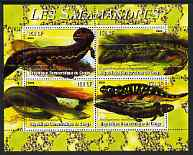 Congo 2004 Salamanders perf sheetlet containing 4 values unmounted mint