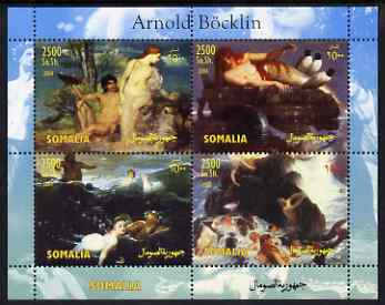 Somalia 2004 Paintings by B\9Acklin perf sheetlet containing 4 values unmounted mint