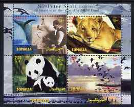 Somalia 2004 Paintings by Sir Peter Scott (Founder of WWF) perf sheetlet containing 4 values unmounted mint