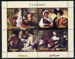 Somalia 2004 Paintings by Caravaggio perf sheetlet containing 4 values unmounted mint