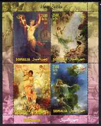 Somalia 2004 Nude Paintings by Hans Zatzka perf sheetlet containing 4 values unmounted mint